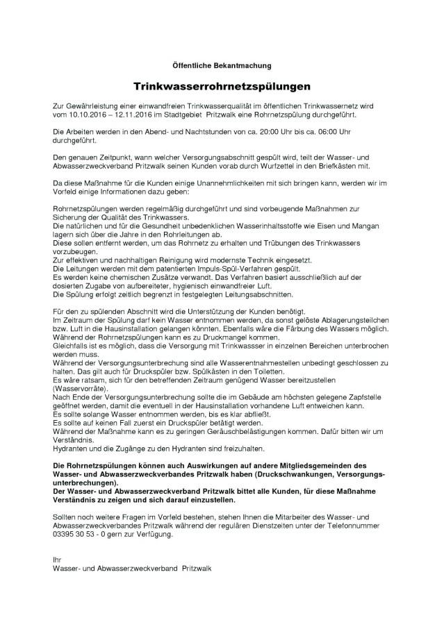 2016_bekanntmachung_rohrnetzsplung_stadt_pritzwalk_10-10-_-12-11