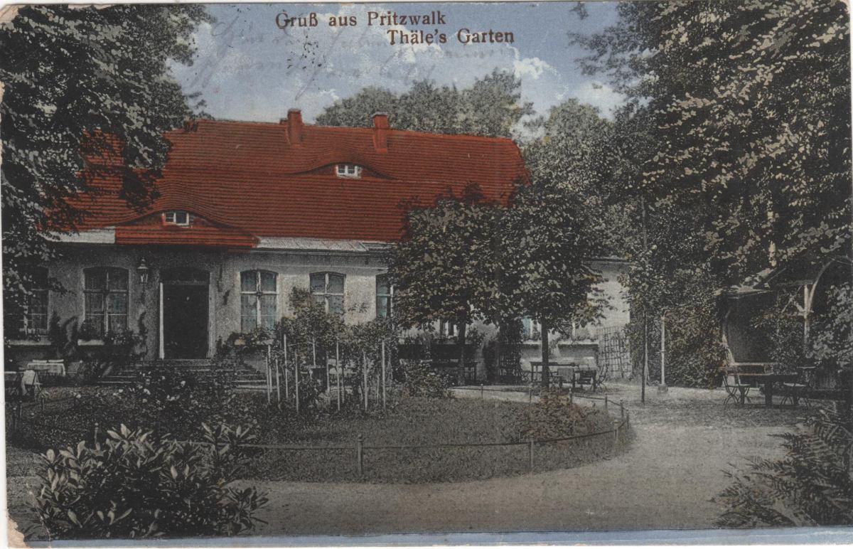 Pritzwalk in alten Ansichten: Thäle`s Garten