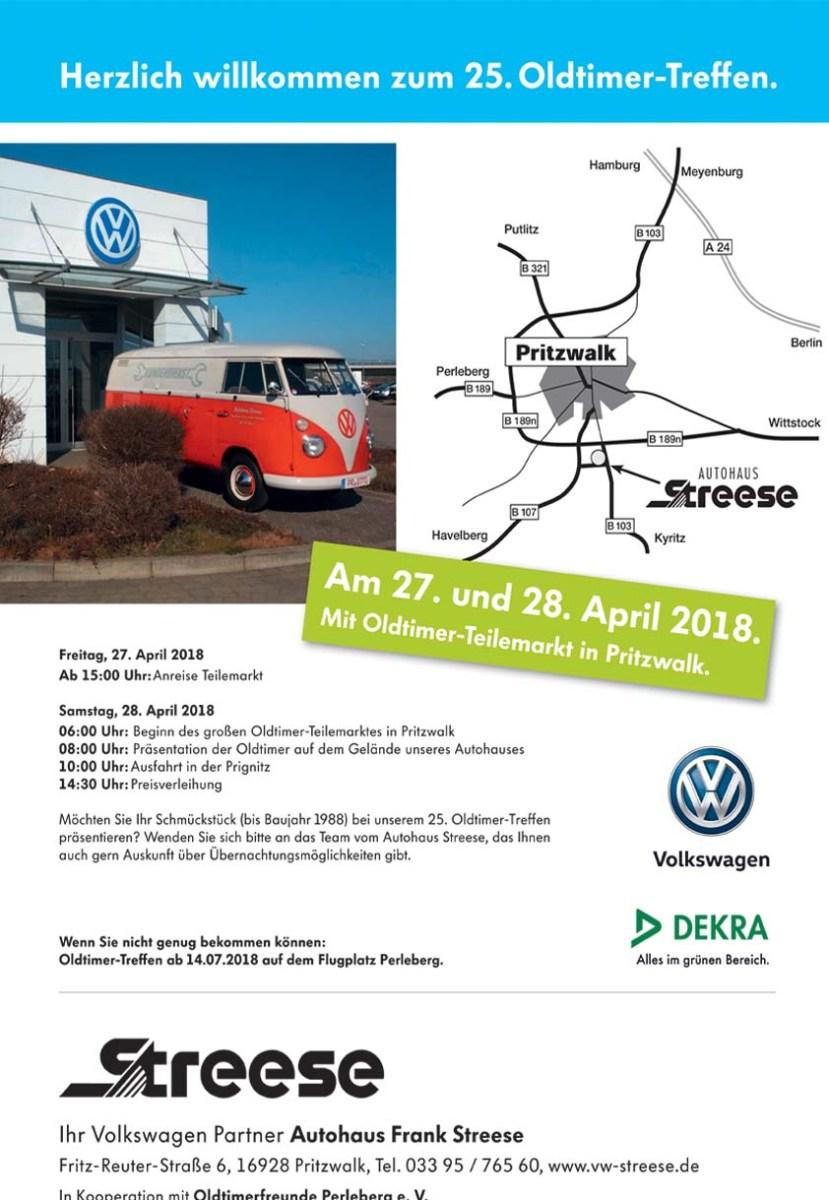 25. Oldtimer-Treffen im Autohaus Frank Streese am 27./28.04.
