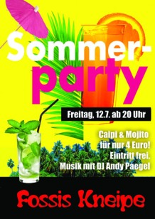 Druckvorlage Fossis_Sommerparty 2019_Plakat WEB