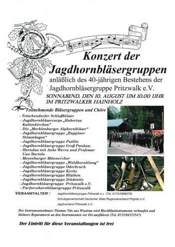 Jagdhornbläser 40 Jahre_Konzert