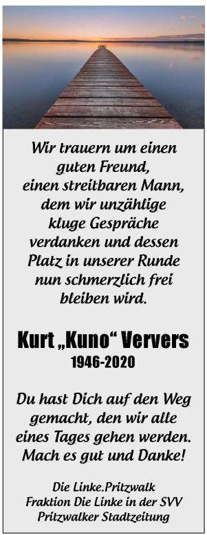 Nachruf Kuno von Linken und PSZ